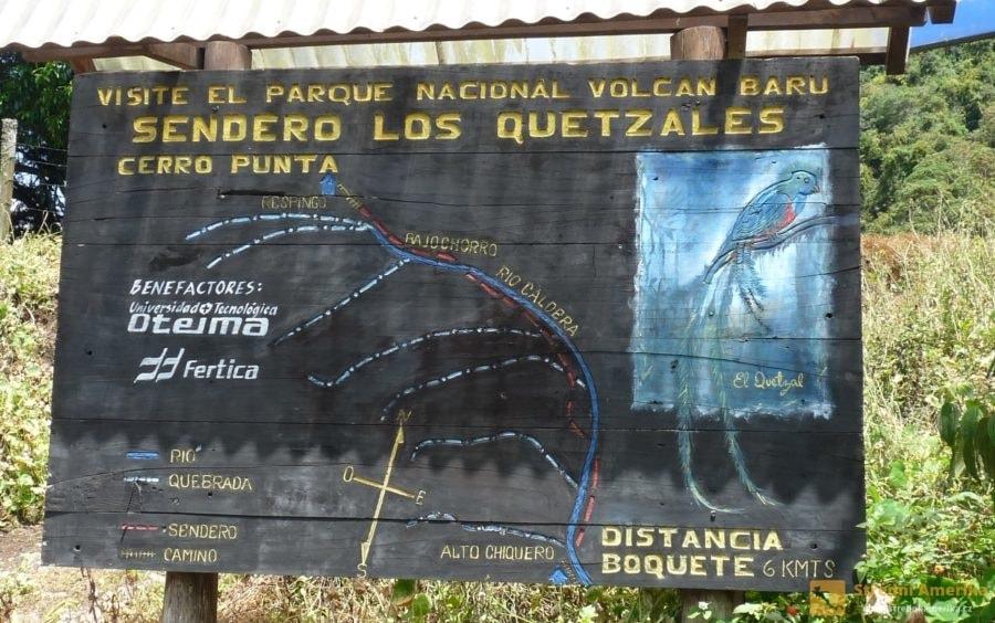 Kvesalí stezka, Cerro Punta