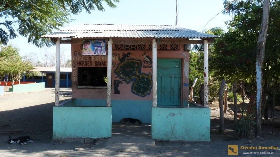 Ometepe: Cestovní informační kanceláře mohou mít v malých obcích skromný vzhled, ale poskytují plnohodnotné služby.