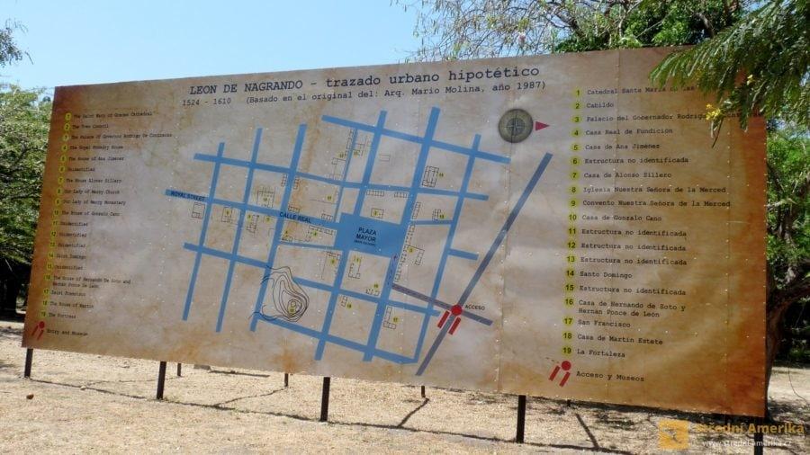 Nikaragua, urbanistické řešení původního města León Viejo