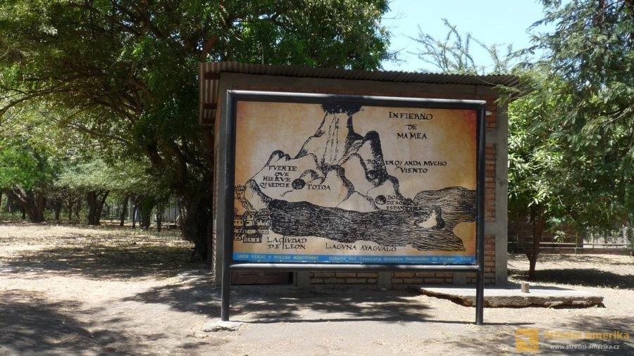 Nikaragua, León Viejo, archeologický park