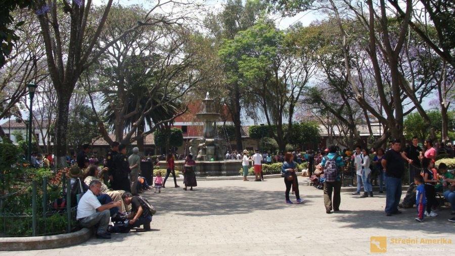 Antigua Guatemala, centrální park