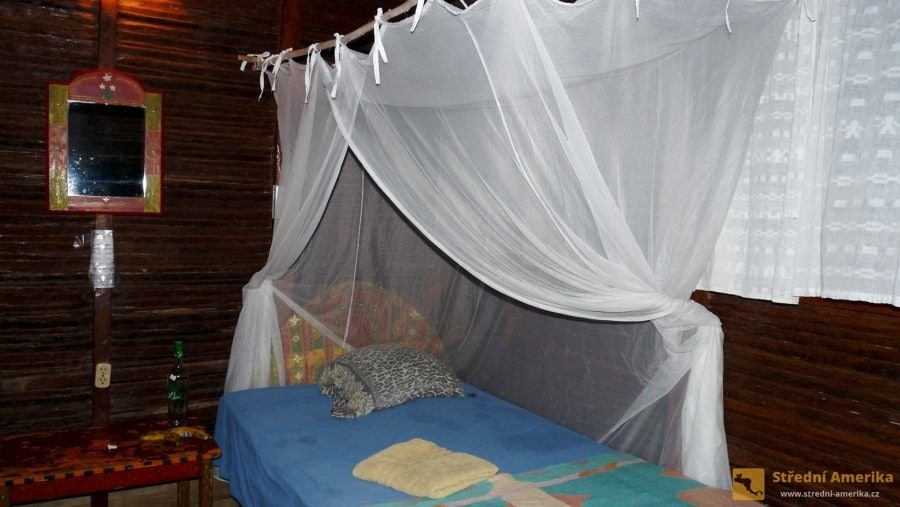 Guatemala, Livingston, levný hotel La Casa Rosada