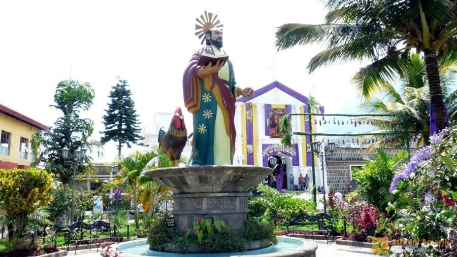 Svatý Petr, apoštol. Patron města San Pedro La Luna.